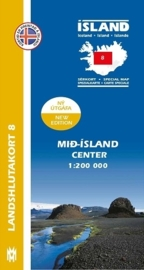 Wegenkaart - Fietskaart Mid-Island / IJslands Centrale Hoogland 08 | 1:200 000 | Mal og menning | ISBN 9789979333838