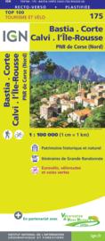 Wegenkaart - fietskaart Bastia - Corte - Calvi - Corse du Nord | IGN 175 | ISBN 9782758547792