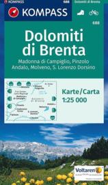 Wandelkaart Brenta - Madonna di Campiglio-Passo del Tonale | Kompass 688 | 1:25.000 | ISBN 9783990443323