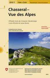 Wandelkaart  Chasseral - Vue des Alpes | Bundesamt 3315T |  ISBN 9783302333151