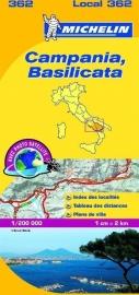 Wegenkaart Campania , Basilicata nr. 362 | Michelin | 1:200.000 | ISBN 9782067127241