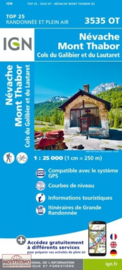 Wandelkaart Nevache, Mont Thabor, Col du Galibier, Bardonecchia (I), Valloire | NP Ecrins | IGN 3535OT - IGN 3535 OT