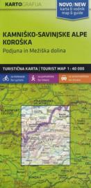 Wandelkaart Kamnik en Sanvinje (Kamnisko in Savinjske Alpe) Slovenië | KartoGrafija | 1:40.000 | ISBN 3830048522519