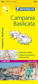 Wegenkaart Campania , Basilicata nr. 362   Michelin   1:200.000   ISBN 9782067127241