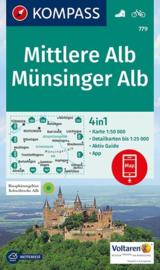 Wandelkaart Mittlere Alb - Münsinger Alb | Kompass 779 | 1:50.000 | ISBN 9783990443675