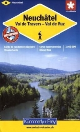 Wandelkaart Neuchatel - Val de Travers | Kümmerly + Frey 8 | 1:60.000 | ISBN 9783259008782