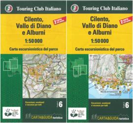 Wandelkaart Cilento, Vallo di Diano e Alburni | TCI 6 | 1:50.000 | ISBN 9788836573295