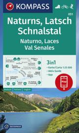 Wandelkaart Naturns - Latsch - Schnalstal | Kompass 051 | 1:25.000 | ISBN 9783990446195