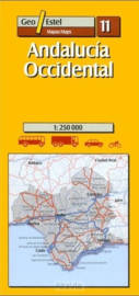 Auto - Fietskaart Andalucia West | GeoEstel  No. 11 | 1:250.000 | ISBN 9788495788184