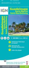 Wegenkaart Guadeloupe, Saint-Martin - Sint Maarten, Saint-Barthélémy | IGN | 1:80.000 | ISBN 9782758546580