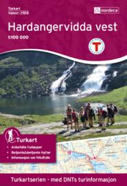 Wandelkaart Hardangervidda Vest - West 2558 | Nordeca | 1:100.000 | ISBN 7046660025581