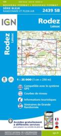 Topo-, wandelkaart Rodez / Laissac |  IGN 2439SB | ISBN 9782758534273