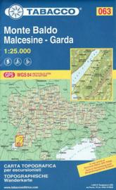 Wandelkaart Monte Baldo / Malcesine - Garda | Tabacco 63 | 1:25.000 | ISBN 9788883151101