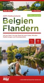 Fietskaart België - Vlaanderen | ADFC | 1:150.000 | ISBN 978969900000