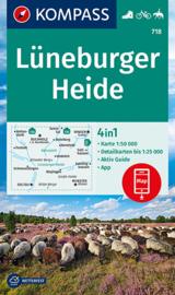 Wandelkaart Lüneburger Heide | Kompass 718 | ISBN 9783991212942