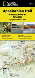 Wandelkaart Appalachian Trail – Pleasant Pond to Katahdin | 1:63360 | National Geographic 1513 | ISBN 9781597756501