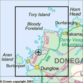 Wandelkaart Ordnance Survey / Discovery series | Donegal NW 1 | ISBN 9781907122415