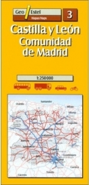 Wegenkaart - Fietskaart Castilla Y Leon - Communidad de Madrid No. 3 | GeoEstel | 1:250.000 | ISBN 9788495788139