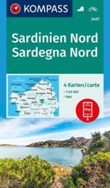 Wandelkaart Sardinië Noord| Kompass 2497 | 1:50.000 | ISBN 9783990444733
