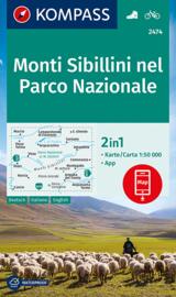 Wandelkaart Monti Sibillini nel Parco Nazionale | Kompass 2474 | 1:50.000 | ISBN 9783850268479