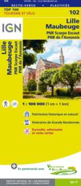 Wegenkaart - Fietskaart Lille - Maubeuge - Cambrai | IGN 102 | ISBN 9782758543558