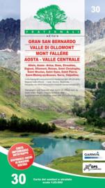 Wandelkaart Gran San Bernardo, Valle di Ollomont, Mont Fallére, Aosta – Valle Centrale | Fraternali Editore 30 | 1:25.000 | ISBN 9788897465478
