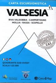 Wandelkaart  Valsesia - Riva Valdobbia | Geo4Map kaart 1 | 1:25.000 | ISBN 9788894021042