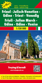 Wegenkaart - Fietskaart Friaul - Julisch Venetien - Udine - Triest | 1:150.000 | Freytag & Berndt | ISBN 9783707915167