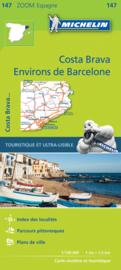 Fietskaart - wegenkaart Barcelona y alrededores Costa Brava | Michelin 147 | ISBN 9782067218178