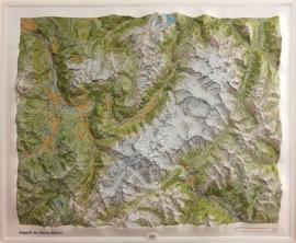 Wandkaart Mont Blanc 3D met Reliëf | IGN | 1:56.000 | ISBN 9782758538738