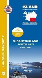 Wegenkaart - Fietskaart Sudausturland / Zuidoost IJsland 07 | 1:200 000 | Mal og menning | ISBN 9789979333821