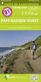 Wandelkaart Pays Basque Ouest - Biaritz - St Jean de Luz (Frankrijk - Pyreneeen) | Rando 01 | 9782344013380