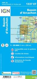 Wandelkaart Bassin D'Arcachon | Franse Atlantische Kust | IGN 1337ET - IGN 1337 ET | ISBN 9782758539339