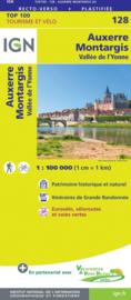 Wegenkaart - fietskaart Auxerre - Montargis | IGN 128 | ISBN 9782758547549