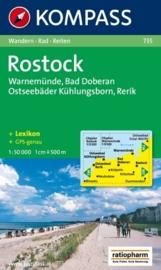 Wandelkaart Rostock - Warnemunde - Bad Doberan | Kompass 735 | 1:50.000 | ISBN 9783854916864