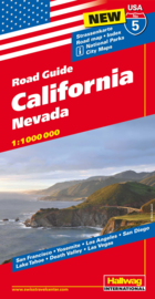 Wegenkaart California / Nevada nr.5 | Hallwag | 1:1 miljoen | ISBN 9783828307568