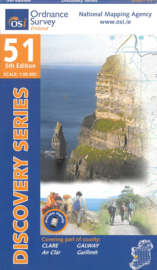Wandelkaart Ordnance Survey / Discovery series| Clare / Galway 51 | ISBN 9781908852526