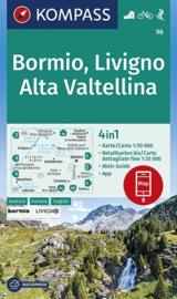 Wandelkaart Bormio-Livigno-Valtellina | Kompass 96 | 1:50.000 | ISBN 9783990446294