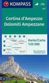 Wandelkaart Cortina d`Ampezzo - Dolomiti Ampezzane | Kompass 617 | 1:25.000 | ISBN 9783990443408
