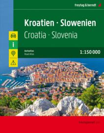 Wegenatlas Kroatie en Slovenië   Freytag & Berndt   1:150.000   ISBN 9783707918441