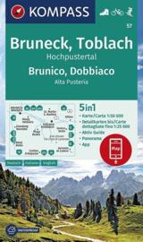 Wandelkaart Bruneck - Toblach | Kompass 57 | 1:50.000 | ISBN 9783990447086