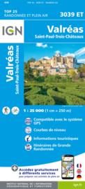 Wandelkaart Valréas - Enclave des Papes - Pierrelatte | Drome | IGN 3039 ET - IGN 3039ET