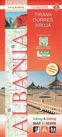 Wandelkaart Tirana, Durres, Kruja | Huber Verlag 05 | 1:50.000 | ISBN 9783943752113