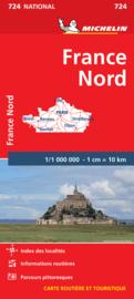 Wegenkaart Frankrijk Noord | Michelin 724 | 1:1 miljoen | ISBN 9782067199323