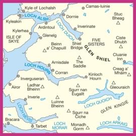 Wandelkaart Loch Alsh, Glen Shiel & Loch Hourn   Ordnance Survey 33   ISBN 9780319261316