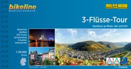 Fietsgids 3-Flüsse Radweg - 315 km. | Bikeline | ISBN 9783850006989