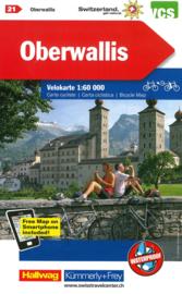 Fietskaart Oberwallis Rhônetal | Kümmerly+Frey nr. 21 | 1:60.000 | ISBN 9783259024218