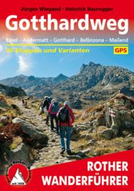 Wandelgids Gotthardweg - 30 Etappen mit Varianten | Rother | ISBN 9783763345069