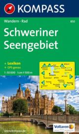 Wandelkaart Schweriner Seengebiet | Kompass 850 | ISBN 9783854917908