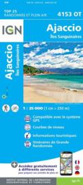 Wandelkaart Ajaccio, Iles Sanguinaires | Corsica -  IGN 4153OT - IGN 4153 OT